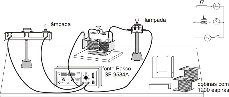 Circuito Corrente Alternada : L mpada em série com indutor corrente alternada